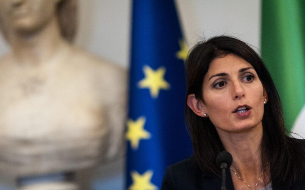 Rome's current mayor Virginia Raggi, a member of the anti-establishment Five Star Party, has seen her popularity plummet. (Andrea Ronchini/NurPhoto via Getty Images/via JTA)