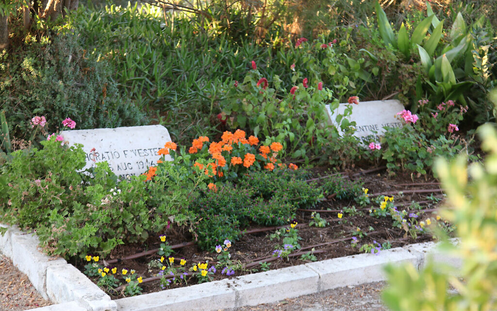 An American Colony burial plot on Mt. Scopus. The colony was founded in 1881 by a deeply religious Presbyterian couple who hoped to find solace in the Holy Land after suffering family tragedy. (Shmuel Bar-Am)