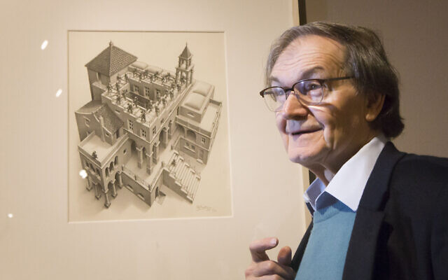 Mathematical physicist Roger Penrose, June 26, 2015. (Danny Lawson/PA via AP)