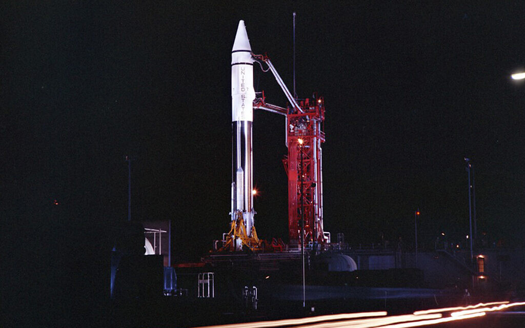 Illustrative: An Atlas Centaur 7 rocket on the launchpad at Cape Canaveral, Florida, September 20, 1966. (Convair/General Dynamics Astronautics Atlas Negative Collection/San Diego Air and Space Museum via AP)
