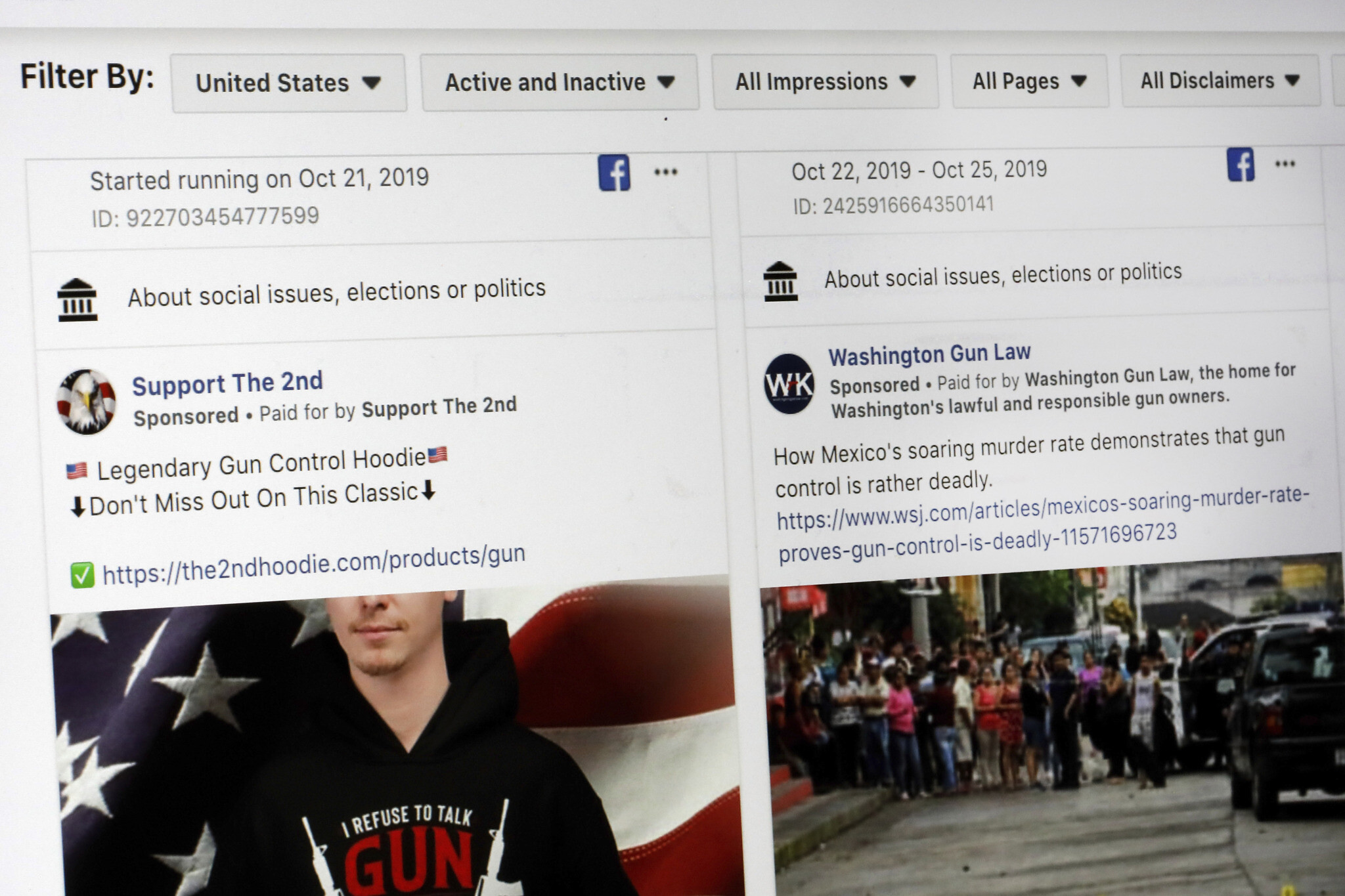 Shaky Start To Facebook Political Ad Ban Ahead Of Us Election The Times Of Israel