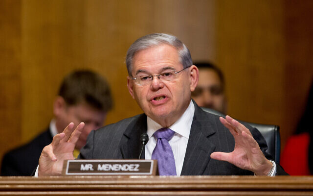 Sen. Robert Menendez, D-N.J., questions State Department Under Secretary for Political Affairs Thomas Shannon, Jr., as he testifies at a Senate Foreign Relations Committee hearing on Capitol Hill in Washington on April 5, 2016. (AP/Andrew Harnik)
