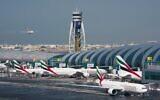 Airliners at at Dubai International Airport in Dubai, United Arab Emirates, December 11, 2019. (Jon Gambrell/AP))