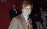 In this May 1994 file photo, actor Rick Moranis is shown at an unknown location.  A law enforcement official tells the Associated Press that Moranis was sucker punched by an unknown assailant while walking Thursday, Oct. 1, 2020, on a sidewalk near New York's Central Park.   Moranis took himself to the hospital and later went to a police station to report the incident, according to the official, who was not authorized to speak publicly about the incident and did so on condition of anonymity. (AP Photo/File)