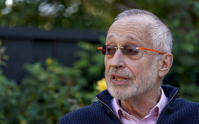 Paul R. Milgrom, professor at Stanford University, during an interview about winning the Nobel Prize in economics at his home in Palo Alto, California, October 12, 2020. (AP Photo/Tony Avelar)