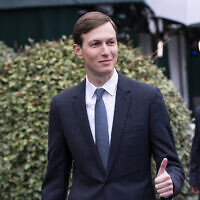 White House senior adviser Jared Kushner gives thumbs up as he walks back to the West Wing after a television interview at the White House, Oct. 26, 2020, in Washington. (AP Photo/Alex Brandon)