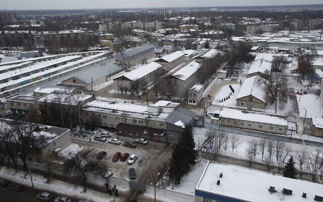 General view of a prison colony outside Nizhny Novgorod, Russia, Friday, Dec. 20, 2013.  (AP Photo/Denis Tyrin)