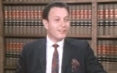 Bernard S. Cohen (Screengrab: Youtube)
