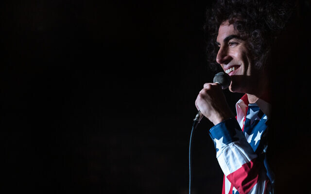 Sacha Baron Cohen as Abbie Hoffman in 'The Trial of the Chicago 7.' (Niko Tavernise/NETFLIX)