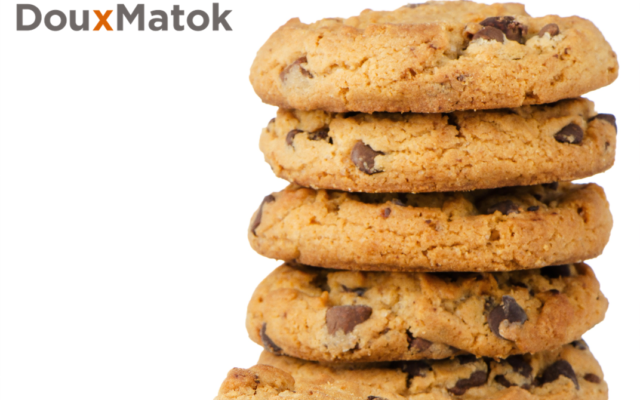 Chocolate chip cookies made with low-sugar content, using DouxMatok technology (Courtesy)