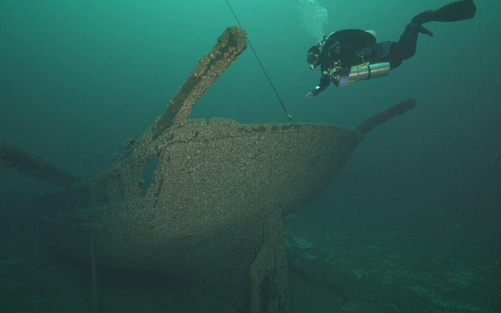 Wreck of The Home freedom boat of abolitionist captain James Nugent, Lake Michigan. (AP Slave Ships Productions Ltd./Cornelia Street's Ships Ltd.)