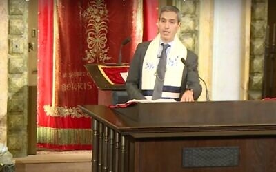 Rabbi Elliot Cosgrove, head rabbi at New Yorks Park Avenue Synagogue. (YouTube screenshot)