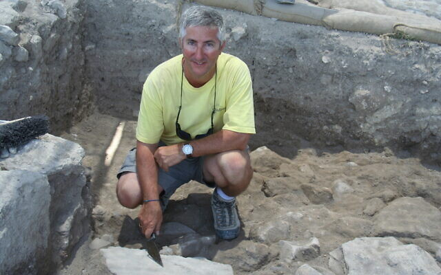 Archaeologist Prof. Eric Cline at the Megiddo excavations in northern Israel. (courtesy)