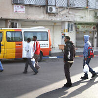 File: Sudanese and Eritrean refugees in South Tel Aviv in 2011 (Nicky Kelvin/Flash90)