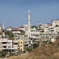 View of the Israeli-Arab town of Kfar Kassem, near Tel Aviv. July 02, 2013. Photo by Moshe Shai/FLASH90