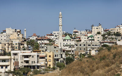The Arab Israeli town of Kfar Qasim, near Tel Aviv, July 2, 2013. (Moshe Shai/FLASH90)