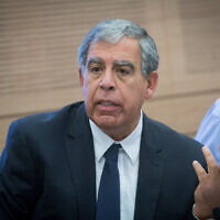 MK Mickey Levy, seen during a meeting of the Finance Committee in the Israeli parliament on November 6, 2017. (Miriam Alster/Flash90)