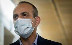 Coronavirus czar Prof. Ronni Gamzu at the Jerusalem Municipality, on October 13, 2020. (Yonatan Sindel/Flash90)