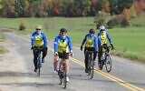 The Grumpy Roadsters, a group of New York City bike riders doing their Alyn hospital fundraising ride for 2020 in the Berkshires of Massachusetts this year, rather than in Israel (Courtesy Alyn)