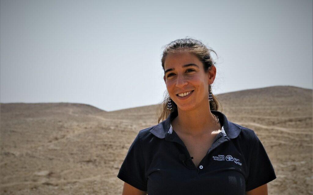 Talia Abulafia, Excavation Director, Israel Antiquities Authority. (Emil Aladjem/Israel Antiquities Authority)