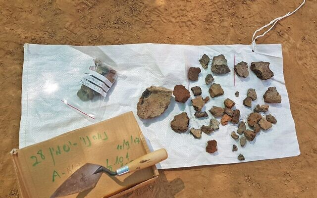 Copper slag found at the Neveh Noy excavation in Beersheba. (Anat Rasiuk/Israel Antiquities Authority)