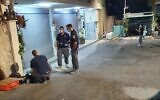 Police at the scene of a fatal shooting in the northern town of Bi'ina, October 4, 2020 (Israel Police)