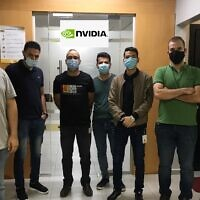 Palestinian engineers employed by Nvidia (Courtesy)
