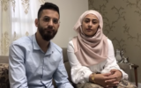 Umm al-Fahm residents Anas and Riham Aghbaria, who instead of holding the massive wedding party they'd planned decided to donate the money to charity and forego the ceremony in light of the coronavirus pandemic (Screenshot: Facebook)