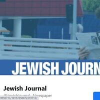 The Facebook page of the LA Jewish Journal (Screenshot)