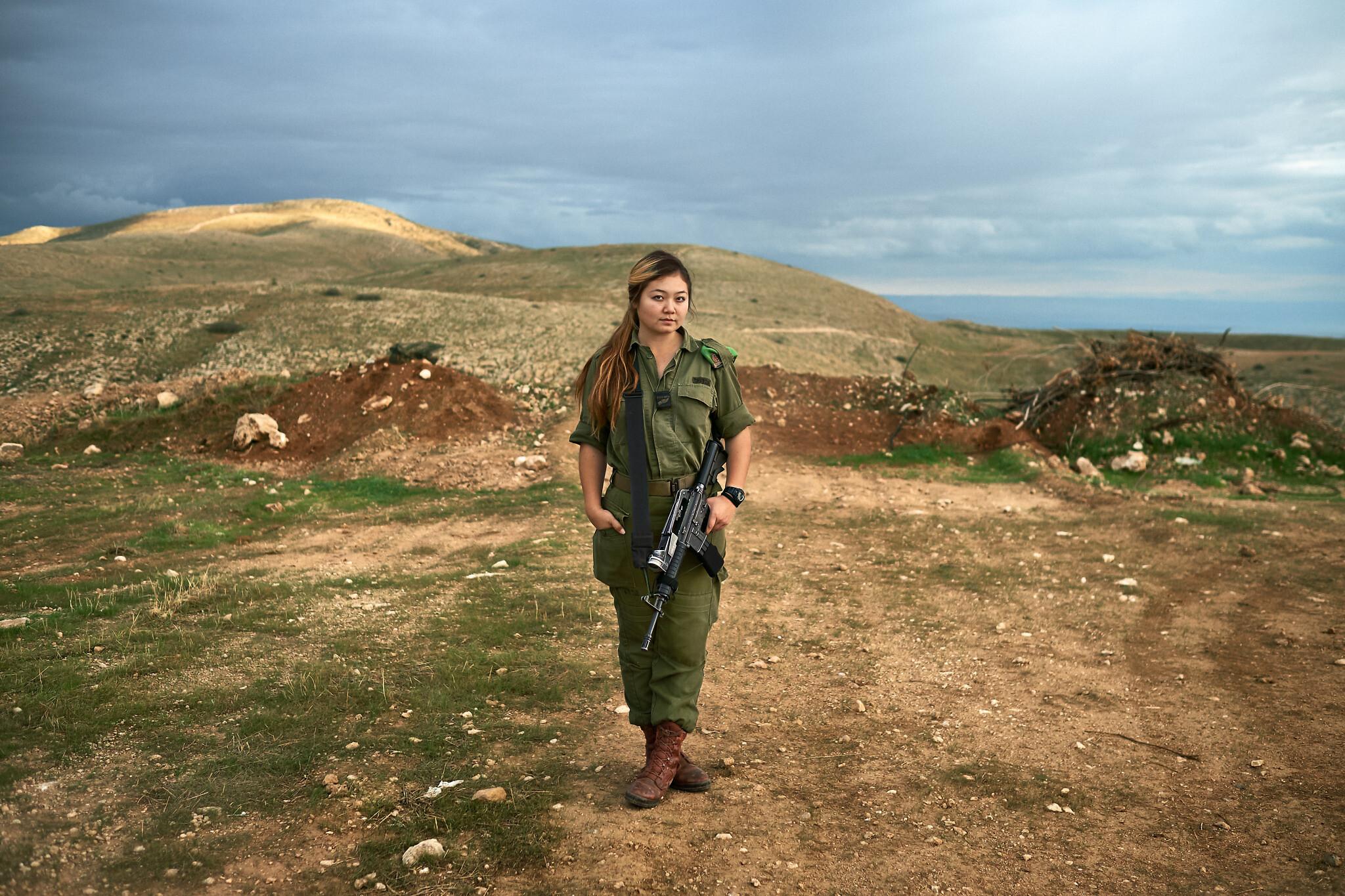 'Emily, 19. Undisclosed, Uzbekistan. Infantry' (Brant Slomovic)