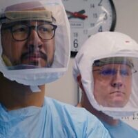 Medical staff in PPE, as seen in 'Totally Under Control' documentary film (Courtesy of Neon)