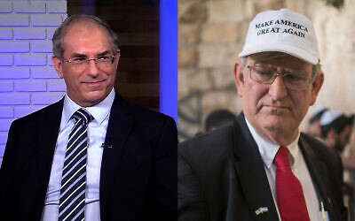 Hezi Kugler, left, and Marc Zell, right. (Screenshot/YouTube, Yonatan Sindel/Flash90)