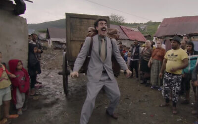 Sacha Baron Cohen in the trailer to the Borat sequel, released by Amazon on October 1, 2020. (Screenshot/YouTube)