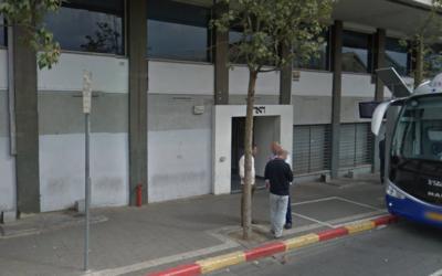 The entrance to the Haaretz building in Tel Aviv. (Screenshot/Google Street View)