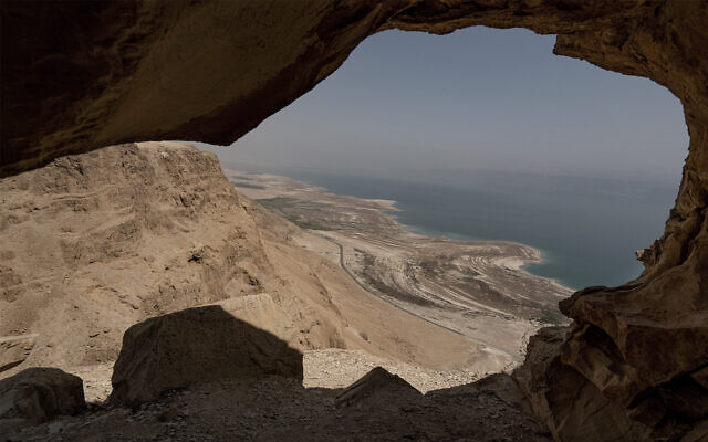 The modern Dead Sea is hypersaline and in an arid desert environment, but was once a freshwater lake surrounded by fertile grasslands. October 4, 2018. (Yaniv Nadav/FLASH90)