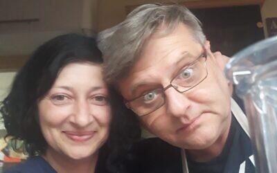 David Vodiansky, right, with his wife Alin Zaraabel (Courtesy of Alin Zaraabel)