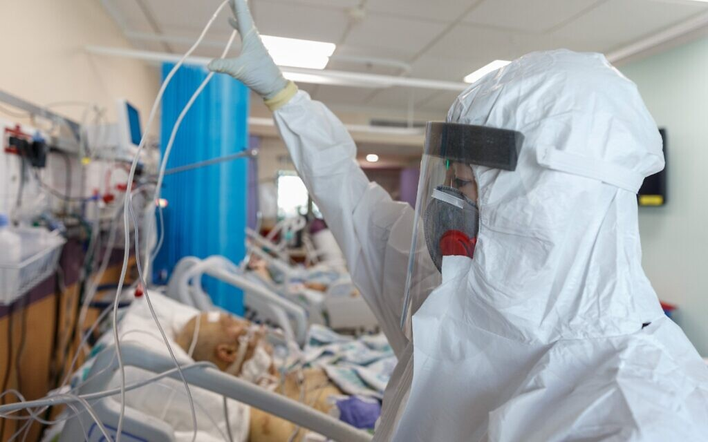 A coronavirus ward at Galilee Medical Center (Ancho Gosh Jini Photo Agency via Galilee Medical Center)