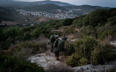 IDF soldiers take part in a large-scale exercise 'Lethal Arrow' simulating war in the north in October 2020. (Israel Defense Forces)