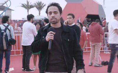 Egyptian comedian Shady Abu Zaid. (Screen capture: YouTube)