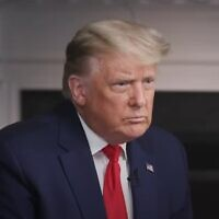 US President Donald Trump in an interview with '60 Minutes' released by his administration on October 22, 2020, before its official broadcast (video screenshot)
