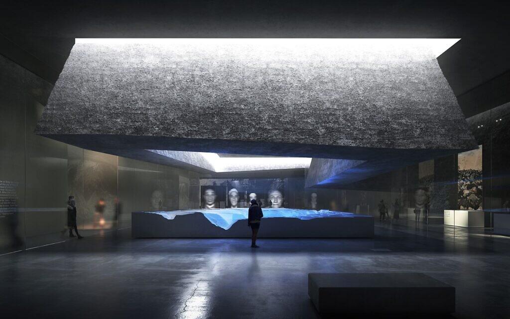 Plans for the Babyn Yar Holocaust Memorial Center in Kyiv (BYHMC Querkraft)