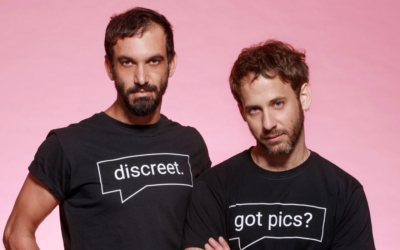 Morad Hassan (left) and Yoel Rozenkier play two men meeting on a dating app in 'Borders,' a play that went virtual during the coronavirus (Courtesy Nimrod Danishman)
