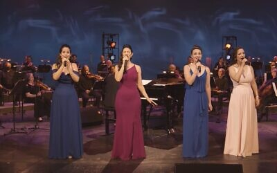 Israeli Opera singers performing Hebrew favorites for the opera's newly broadened website (Courtesy Israeli Opera)