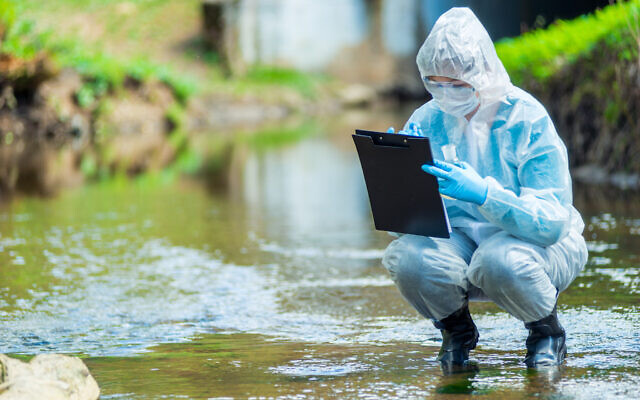 Illustrative: A scientist inspects water in a creek (kosmos111 via iStock by Getty Images)