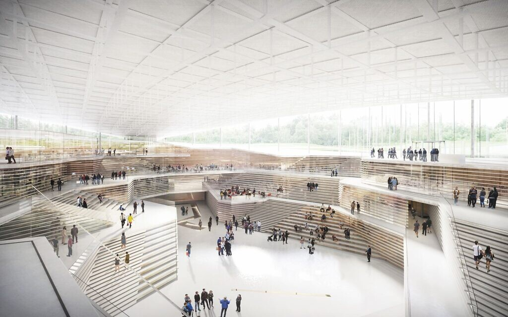 Plans for the Babyn Yar Holocaust Memorial Center in Kyiv (courtesy)