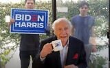 Mel Brooks endorses Joe Biden for the US presidency (YouTube screenshot)