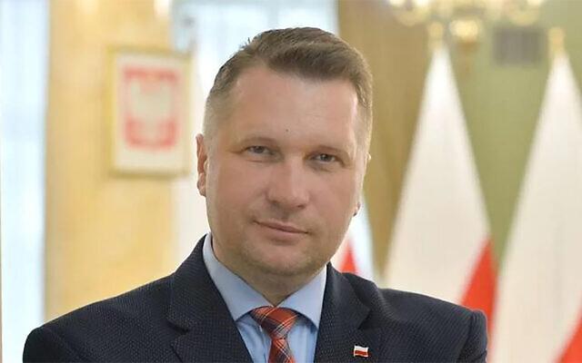 Przemysław Czarnek (Courtesy via JTA)