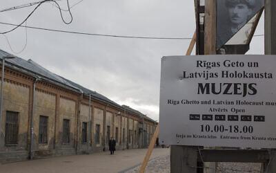 Riga Ghetto Museum des Vereins Shamir in Riga, Latvia (Fishman/ullstein bild via Getty Images via JTA)