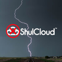 Illustration using ShulCloud logo. (Getty Images; illustration by Laura E. Adkins/via JTA)