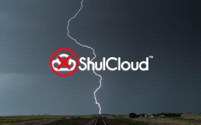 Illustration using ShulCloud logo. (Getty Images; illustration by Laura E. Adkins/via JTA)